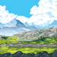 Landscape with Rocks and Mountains - GraphicRiver Item for Sale