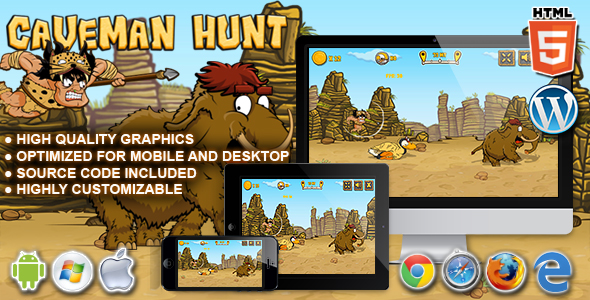 Caveman Hunt - HTML5 Launch Game Download