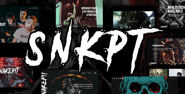 Snakepit - A Rock and Metal Oriented Music WordPress Theme 2