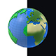 Earth low poly simple design cartoon - 3DOcean Item for Sale