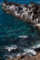beautiful view on blue ocean water and rocky coast line - PhotoDune Item for Sale