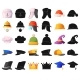 Isolated Object of Headgear and Hats - GraphicRiver Item for Sale