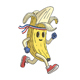 Banana Runner Cartoon Character - GraphicRiver Item for Sale