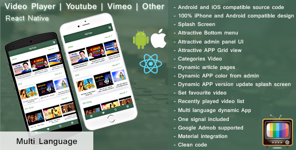 Make A Live TV App With Mobile App Templates from CodeCanyon