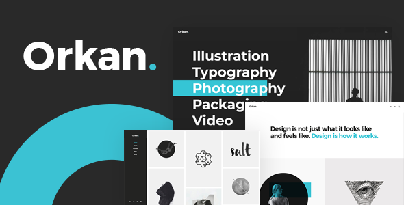 Orkan - Artist and Design Agency Portfolio Theme