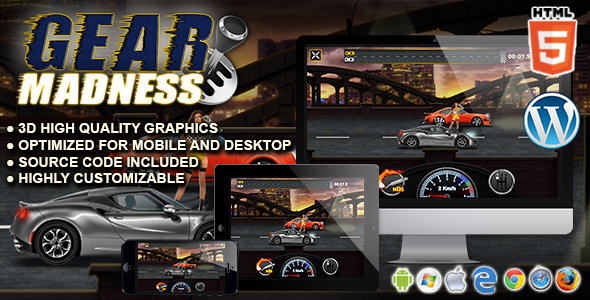 Gear Madness - HTML5 Racing Game Download
