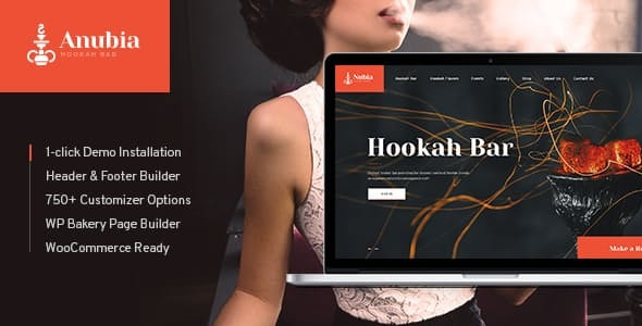 Anubia | Smoking and Hookah Bar WordPress Theme