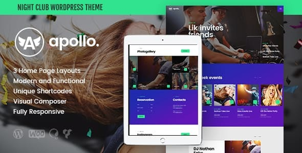 Apollo | Night Club, DJ Concert & Music Event WordPress Theme