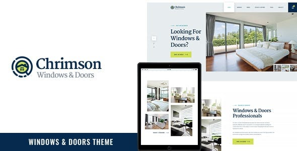Chrimson | Windows & Doors Services + Store WordPress Theme