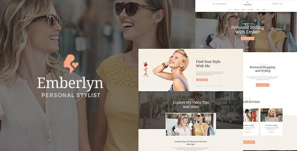 Emberlyn | Personal Stylist & Fashion Clothing WordPress Theme