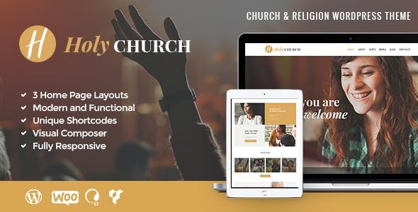 Holy Church | Religion, Charity & Nonprofit WordPress Theme