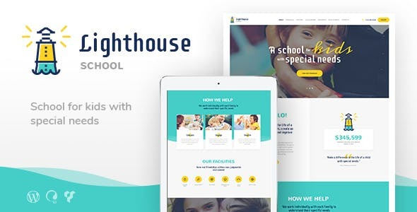Lighthouse | School for Handicapped Kids with Special Needs WordPress Theme