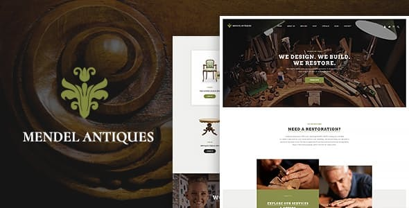 Mendel | Furniture Design & Restoration WordPress Theme