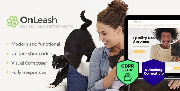 OnLeash | Dog Walking & Pet Services Veterinary WordPress Theme