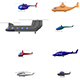 Low Poly Cartoon Helicopters Pack - 3DOcean Item for Sale