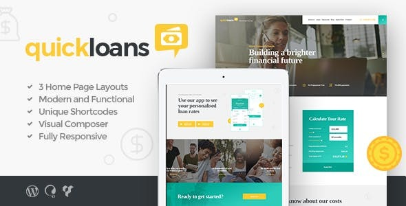 QuickLoans | Loan Company & Banking Business WordPress Theme