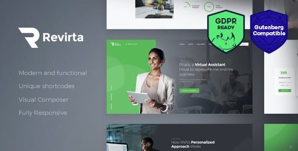 Revirta | Personal Virtual Assistant & Secretary WordPress Theme