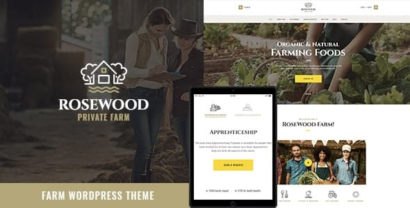 Rosewood | Eco Organic Farming Agricultural WordPress Theme