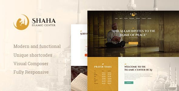 Shaha | Islamic Centre & Mosque WordPress Theme + RTL