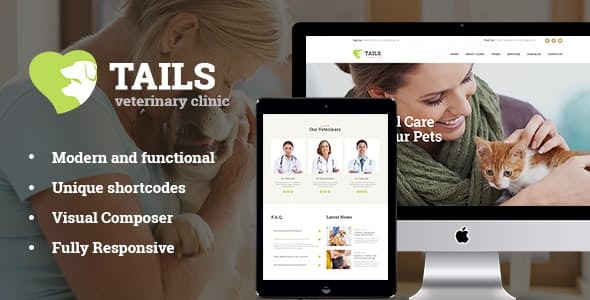 Tails | Veterinary Clinic, Pet Care & Animal WordPress Theme + Shop
