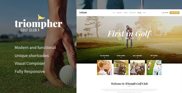 Triompher | Golf Course & Sports Club WordPress Theme