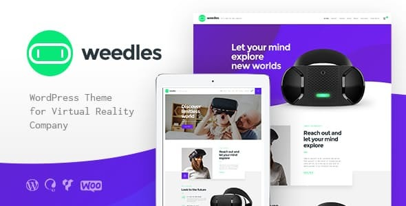 Weedles | Virtual Reality Landing Page & Store WordPress Theme