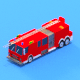 low poly Civil Protection Truck - 3DOcean Item for Sale