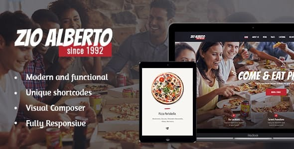 Zio Alberto | Pizza Restaurant, Cafe & Bistro WordPress Theme