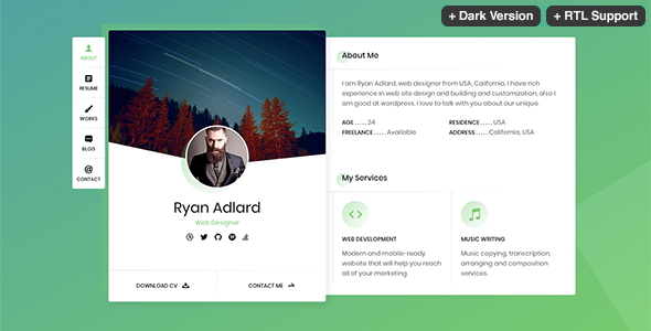 Ryan CV/Resume Template
