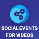 Social Events for Videos Add-on for Easy Social Share Buttons