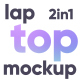 Animated Laptop Mockup 2 in 1 - VideoHive Item for Sale