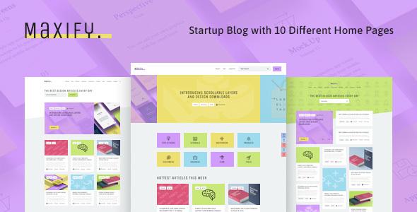 Maxify | Startup & Business News WordPress Blog Theme