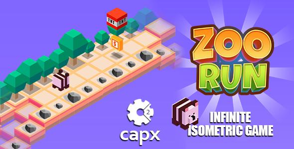 Isometric Zoo Run Game - HTML5 & CAPX