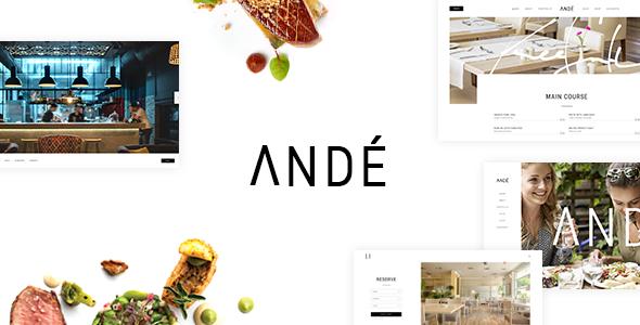 Andé - Elegant Restaurant Theme