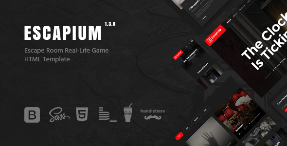 Escapium - Escape Room Game HTML Template