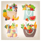 Set of Grocery Shopping Bags with Food - GraphicRiver Item for Sale