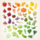 Set of Common Vegetables Organized in Rainbow Layout - GraphicRiver Item for Sale