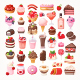 Collection of Desserts with Chocolate and Fruit - GraphicRiver Item for Sale