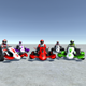 5 Low Poly Karts With Player Pack - 3 - 3DOcean Item for Sale