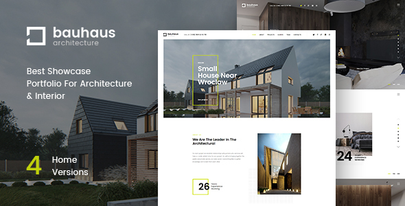 Bauhaus - Architecture & Interior Landing Page HTML Template