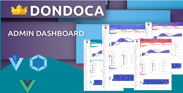 Dondoca - Admin Bootstrap4 Vue - Crack Theme - Download Free