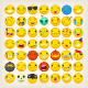 Collection of Yellow Face Emoticons and Emoji Icons - GraphicRiver Item for Sale