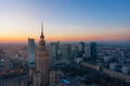 Aerial view of the business center of Warsaw: Palace of Science - PhotoDune Item for Sale