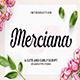 Merciana Script - GraphicRiver Item for Sale