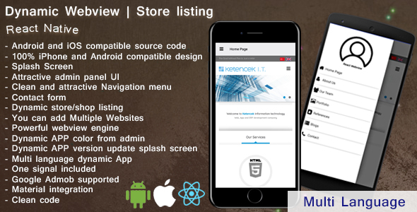 Dynamic Webview | Store Listing | iOS | Android | React Native