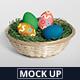 Easter Egg Mockup Basket Edition - GraphicRiver Item for Sale
