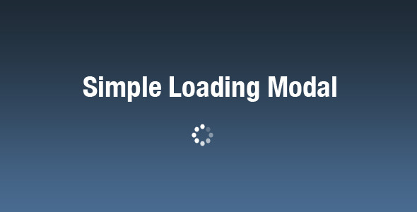 Simple Loading Modal - Elegant Loader for jQuery