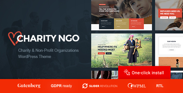 Charity NGO - Donation & Nonprofit Organization WordPress Theme
