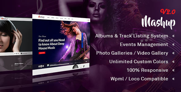 MashUp | Music | Band | DJ WordPress Theme