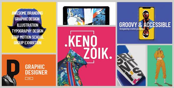 Kenozoik - Vibrant Portfolio Theme